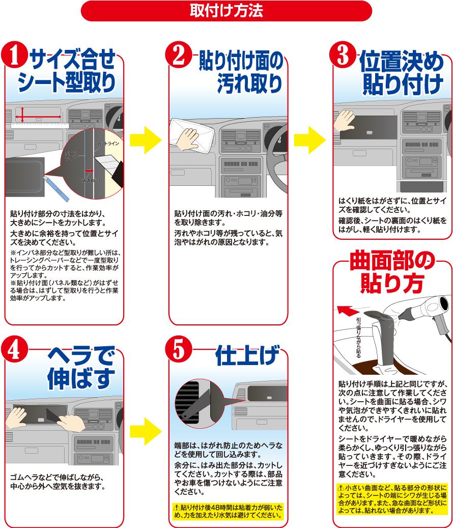 4Dカーボンフィルムの取付け方法